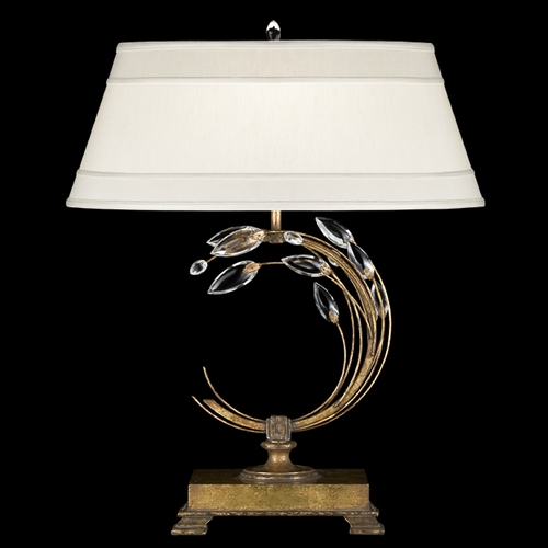Fine Art Lamps Fine Art Lamps Crystal Laurel Gold Leaf Table Lamp with Empire Shade 778010ST
