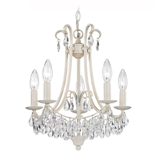 Sterling Lighting Mini Chandelier In Antique Cream And Clear 122-021