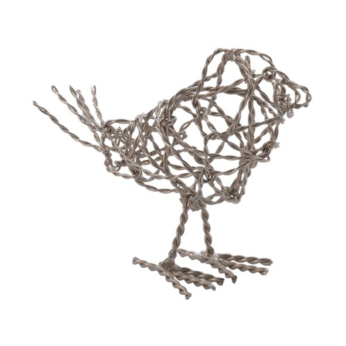 Dimond Home Nickel Scribble Bird - Small 559010