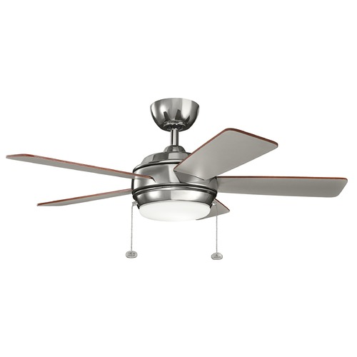 Kichler Lighting Kichler Lighting Starkk Polished Nickel LED Ceiling Fan with Light 330171PN