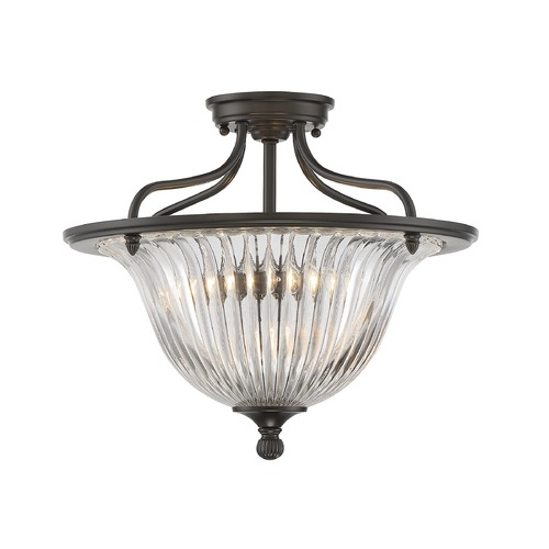 Savoy House Savoy House Lighting Aberdeen Classic Bronze Semi-Flushmount Light 6-151-3-44