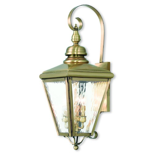 Livex Lighting Livex Lighting Cambridge Antique Brass Outdoor Wall Light 2033-01