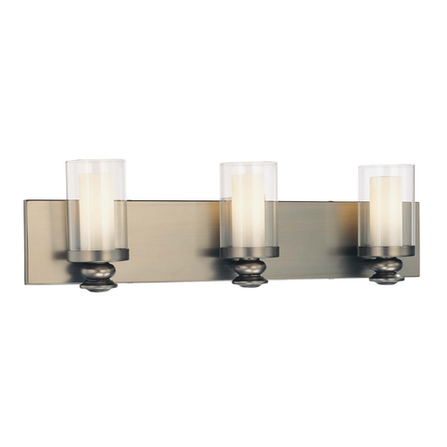 Minka Lavery Bathroom Light with Clear Glass in Harvard Ct. Bronze Finish 6363-281