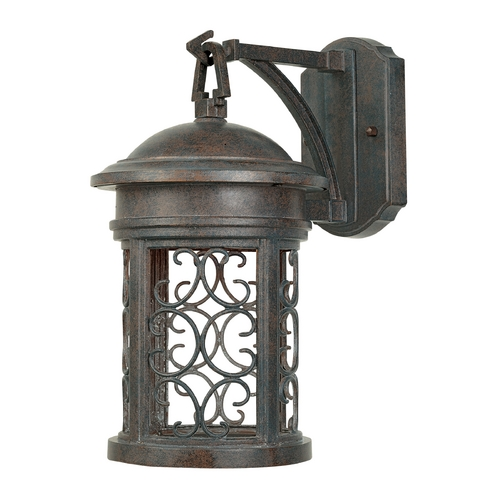 Designers Fountain Lighting Outdoor Wall Light in Mediterranean Patina Finish 31111-MP