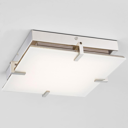 George Kovacs Lighting Modern LED Flushmount Light with White Glass P1111-613-L