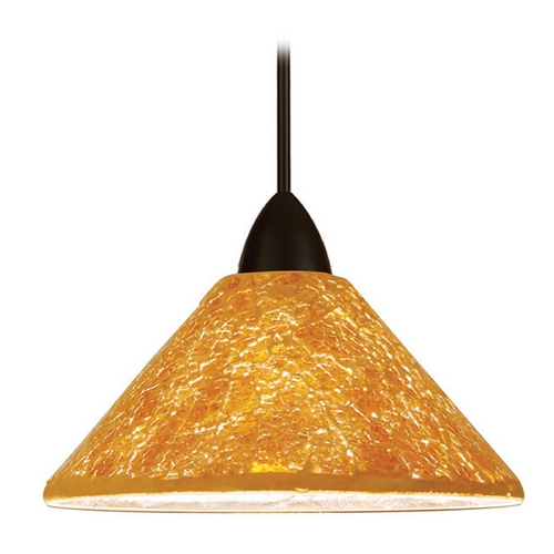 WAC Lighting Wac Lighting Artisan Collection Dark Bronze LED Mini-Pendant with Coolie Shade MP-LED559-GL/DB