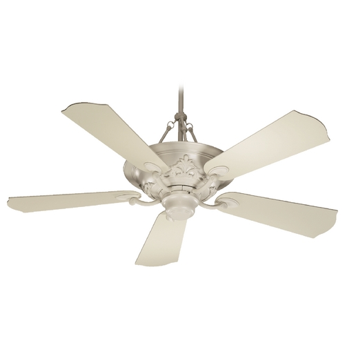 Quorum Lighting Quorum Lighting Salon Antique White Ceiling Fan with Light 83565-67