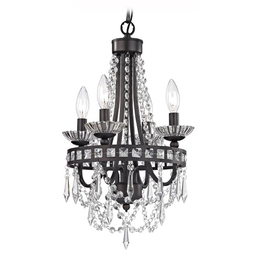 Sterling Lighting Mini Chandelier In Dark Bronze And Clear 122-024