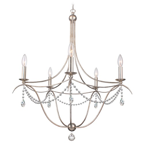 Crystorama Lighting Crystorama Lighting Hot Deal Antique Silver Chandelier 415-SA-CL-MWP