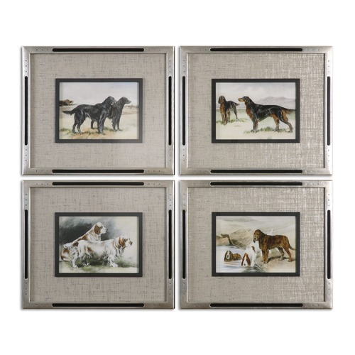 Uttermost Lighting Uttermost Working Dogs Framed Art, Set of 4 41541