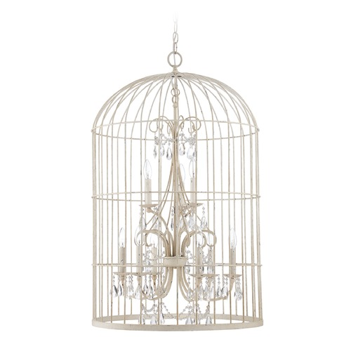 Jeremiah Lighting Jeremiah Lighting Ivybridge French White Pendant Light 38429-FW