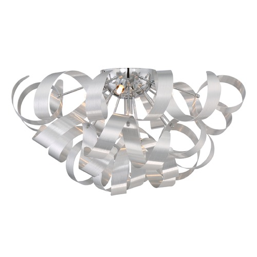 Quoizel Lighting Mid-Century Modern Flushmount Cluster Light Millenia Ribbons by Quoizel Lighting RBN1622MN