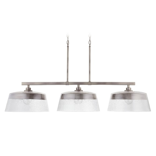 Capital Lighting Capital Lighting Decker 3-Light Washed Grey Island Light 838231WY