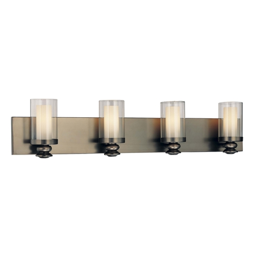 Minka Lavery Bathroom Light with Clear Glass in Harvard Ct. Bronze Finish 6364-281
