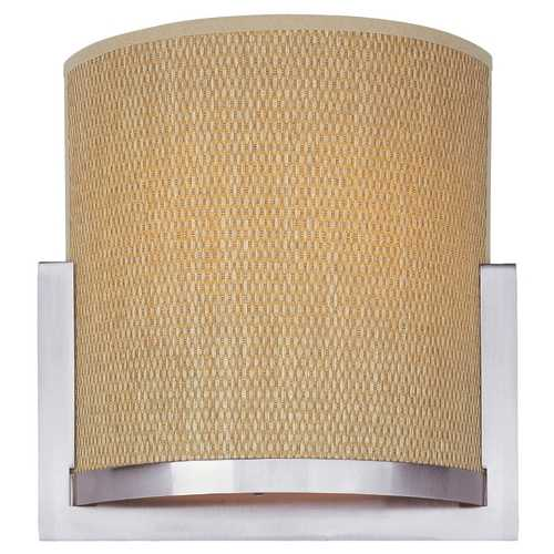 ET2 Lighting Modern Sconce Wall Light with Brown Tones Shades in Satin Nickel Finish E95188-101SN