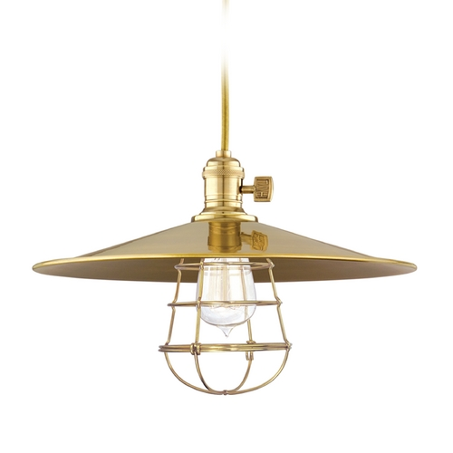 Hudson Valley Lighting Pendant Light in Aged Brass Finish 8001-AGB-MM1-WG