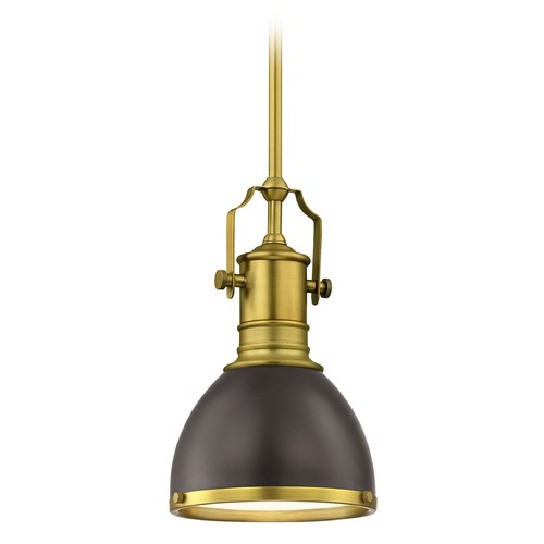 Design Classics Lighting Farmhouse Industrial Black Small Pendant Light 7.38-Inch Wide 1765-12 SH1775-220 R1775-12