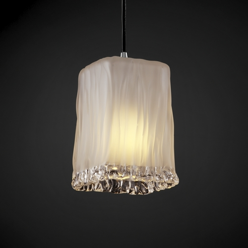 Justice Design Group Justice Design Group Veneto Luce Collection Mini-Pendant Light GLA-8816-26-WTFR-CROM