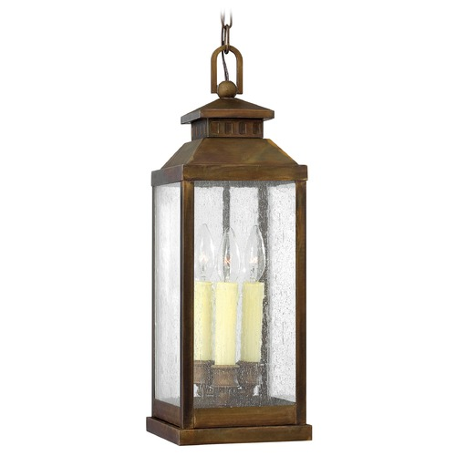 Hinkley Lighting Outdoor Hanging Light with Clear Glass in Sienna Finish 1182SN