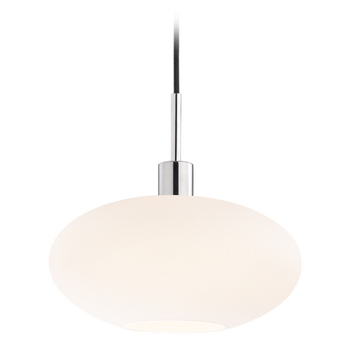 Sonneman Lighting Modern Pendant Light with White Glass in Polished Chrome Finish 3567.01K