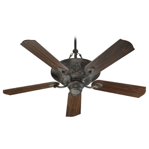Quorum Lighting Quorum Lighting Salon Oiled Bronze Ceiling Fan with Light 83565-86