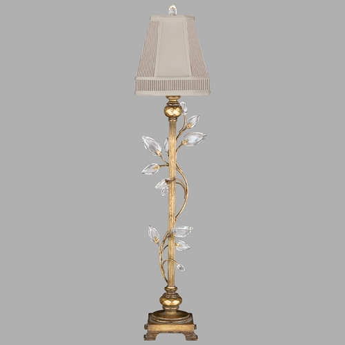 Fine Art Lamps Fine Art Lamps Crystal Laurel Gold Leaf Console & Buffet Lamp with Coolie Shade 775715ST