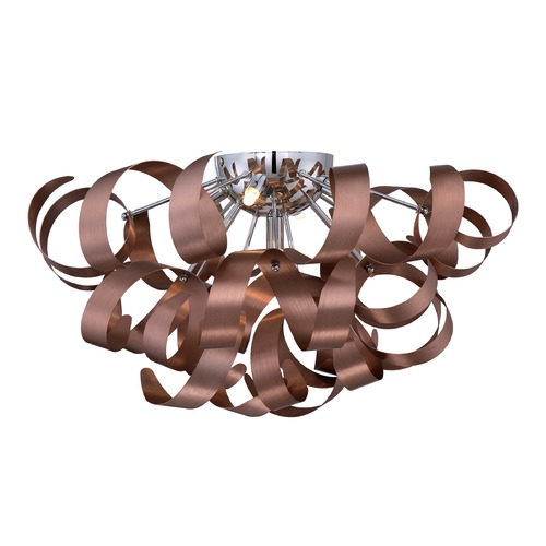 Quoizel Lighting Quoizel Ribbons Satin Copper Flushmount Light RBN1622SG