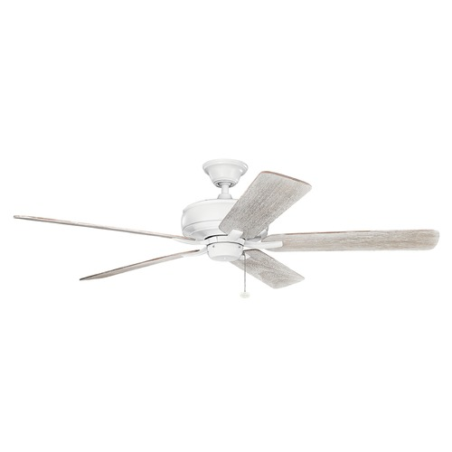 Kichler Lighting Kichler Lighting Terra Matte White Ceiling Fan Without Light 330249MWH
