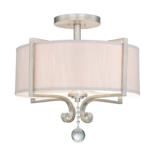 Savoy House Savoy House Lighting Rosendal Silver Sparkle Semi-Flushmount Light 6-259-4-307