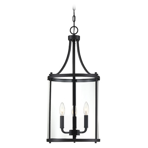 Savoy House Savoy House Lighting Penrose Black Pendant Light with Cylindrical Shade 7-1040-3-BK