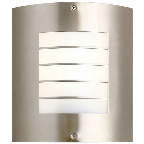 Kichler Lighting Kichler Outdoor Wall Light with White Glass in Brushed Nickel Finish 10640NI