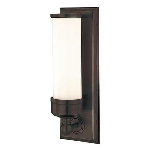 Hudson Valley Lighting Sconce with White Glass in Old Bronze Finish 371-OB