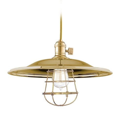 Hudson Valley Lighting Pendant Light in Aged Brass Finish 8001-AGB-MM2-WG