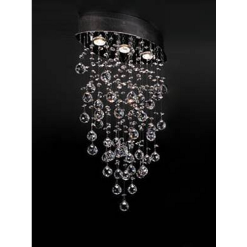 PLC Lighting Modern Flushmount Light in Polished Chrome Finish 81621 PC