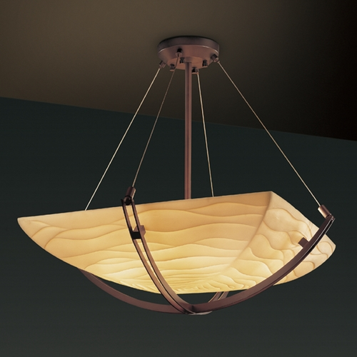 Justice Design Group Justice Design Group Porcelina Collection Pendant Light PNA-9727-25-WAVE-DBRZ
