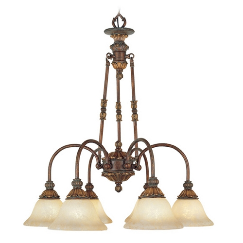 Livex Lighting Livex Lighting Sovereign Crackled Greek Bronze with Aged Gold Accents Chandelier 8605-30
