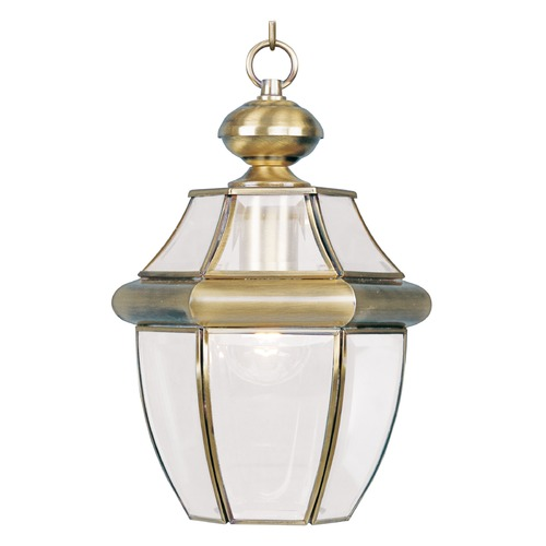 Livex Lighting Livex Lighting Monterey Antique Brass Outdoor Hanging Light 2152-01
