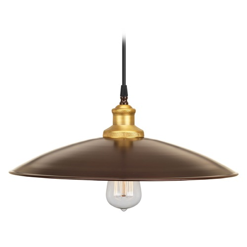Progress Lighting Progress Lighting Archives Antique Bronze Pendant Light with Conical Shade P5124-20