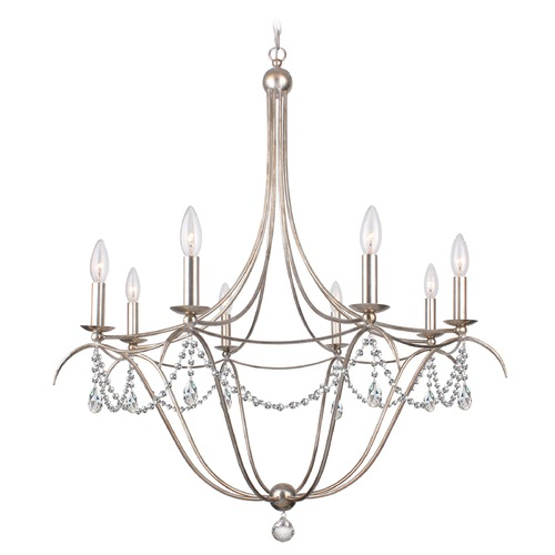 Crystorama Lighting Crystorama Lighting Hot Deal Antique Silver Chandelier 418-SA-CL-MWP