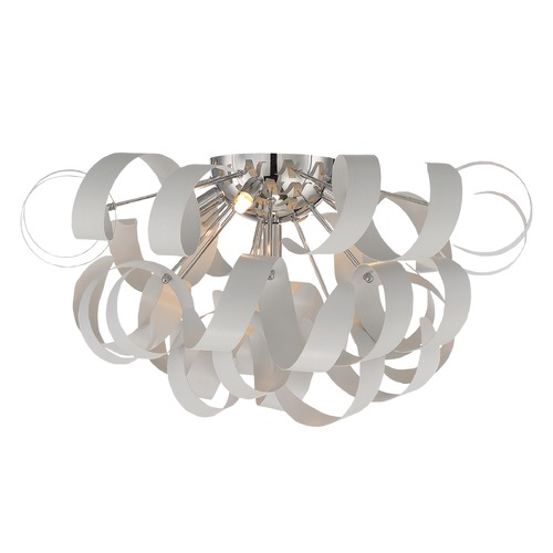 Quoizel Lighting Quoizel Ribbons White Lustre Flushmount Light RBN1622W