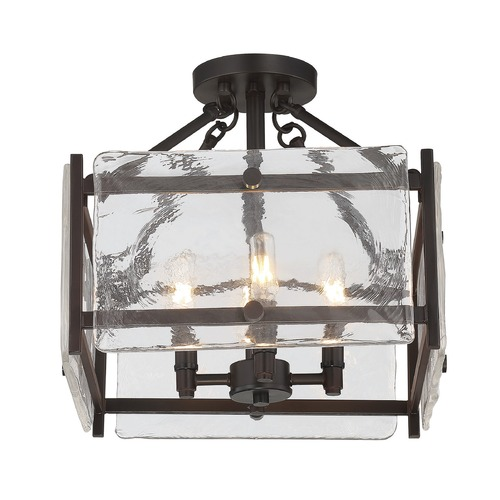 Savoy House Savoy House Lighting Glenwood English Bronze Semi-Flushmount Light 6-3042-4-13