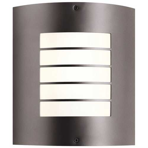 Kichler Lighting Kichler Modern Outdoor Wall Light with White Glass in Bronze Finish 10640AZ