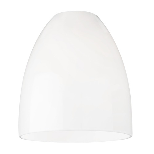 Design Classics Lighting Opal White Bell Glass Shade - Lipless with 1-5/8-Inch Fitter Opening GL1024MB