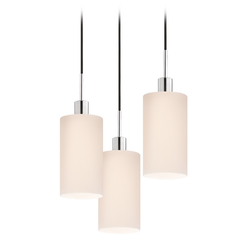 Sonneman Lighting Modern Multi-Light Pendant Light with White Glass and 3-Lights 3560.01K-3