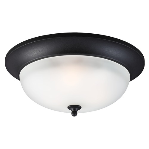 Sea Gull Lighting Sea Gull Lighting Humboldt Park Black Close To Ceiling Light 7827403-12
