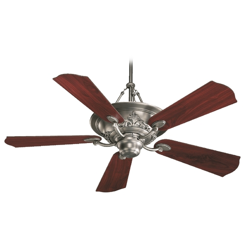 Quorum Lighting Quorum Lighting Salon Antique Silver Ceiling Fan with Light 83565-92