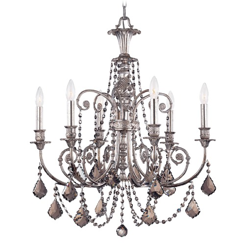 Crystorama Lighting Crystorama Lighting Hot Deal Olde Silver Crystal Chandelier 5116-OS-SS-MWP