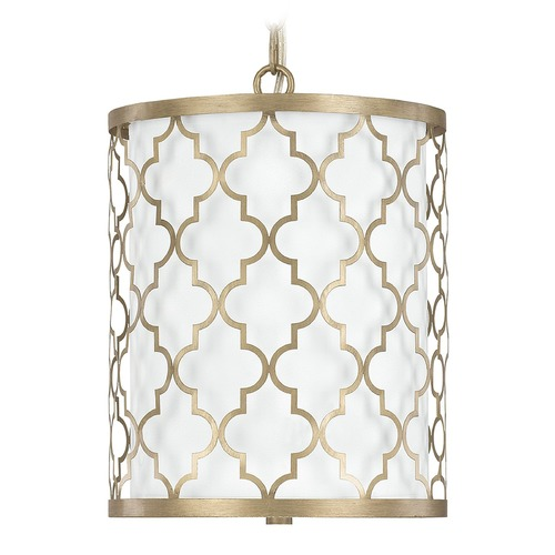 Capital Lighting Capital Lighting Ellis Brushed Gold Pendant Light with Cylindrical Shade 4544BG-579