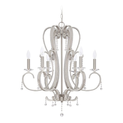 Jeremiah Lighting Jeremiah Lighting Andrianna Brushed Nickel Chandelier 38526-BNK