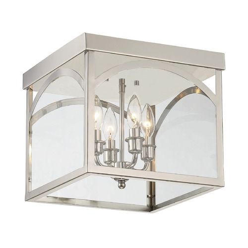 Savoy House Savoy House Lighting Garrett Polished Nickel Flushmount Light 6-3058-4-109